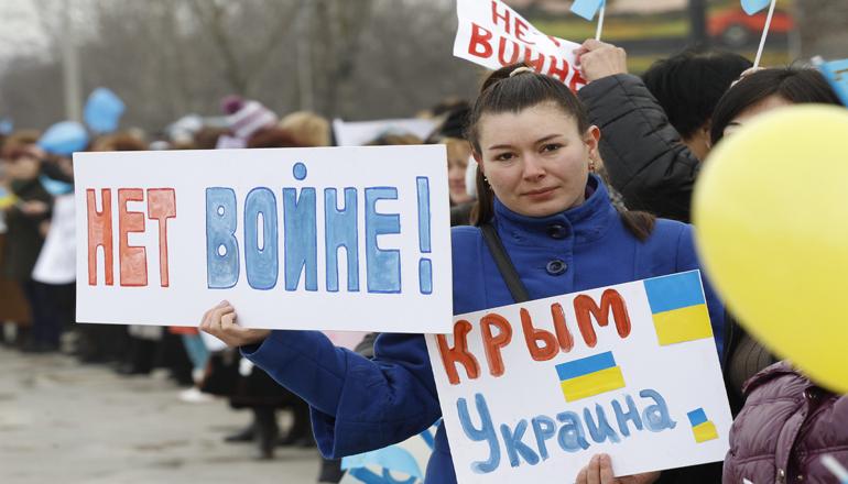 В Крыму на улицах кричат «Слава Украине!»