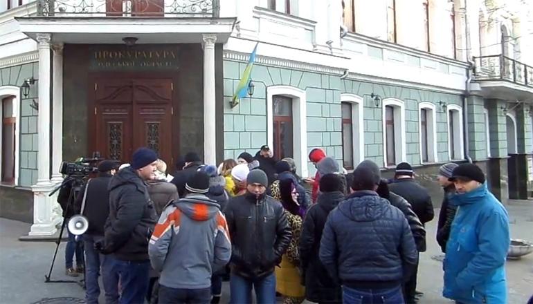 Акция протеста: в Одессе требовали наказать силовиков. Видео