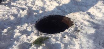 В Николаеве девочка вместе с собакой упала в канализационный люк