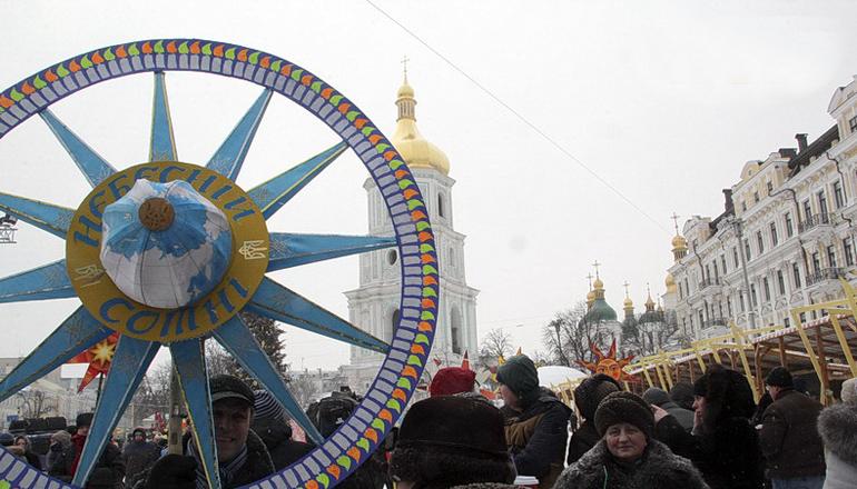 Фотофакт: В Киеве прошел рождественский фестиваль колядников