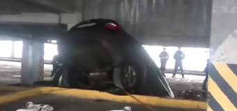 В Москве автомобиль упал с девятого этажа парковки. Фото
