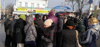 Бунт и протест: в Запорожье торговцы мясом перекрыли дорогу. Фото