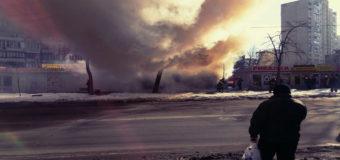 Фотофакт: В Киеве произошел масштабный пожар в киосках
