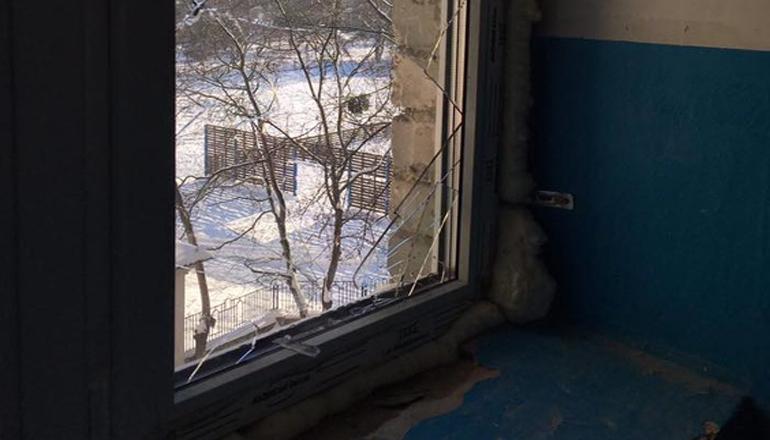 В киевской многоэтажке взорвался мусоропровод. Фото