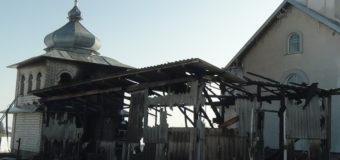 Фотофакт: На Прикарпатье горела церковь
