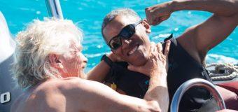 Отдых Обамы на островах вызвал ажиотаж в Сети. Видео