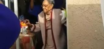 Видео, на котором 100-летняя старушка танцует зажигательный танец, «взорвал» Сеть