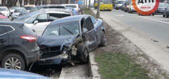 Жесткое ДТП в Киеве: месиво из автомобилей