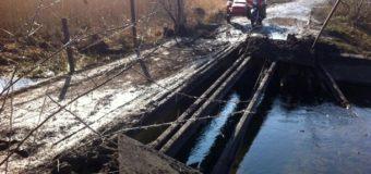 На Луганщине был взорван автомобильный мост. Фото
