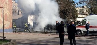 Из-за взрыва авто в Мариуполе погиб полковник СБУ. Видео