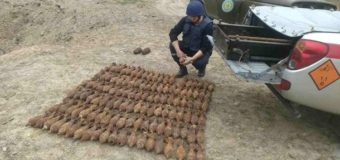 На Лысой горе в Киеве нашли более сотни мин. Фото