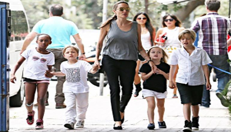 Поклонники в ужасе от внешнего вида детей Джоли. Фото
