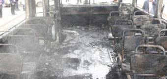 В Запорожье загорелся трамвай с пассажирами. Фото