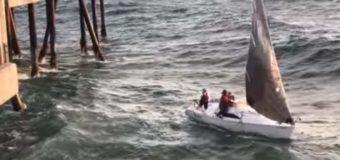 В Калифорнии волна расправилась с яхтой, набитой пассажирами. Видео