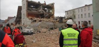 В Польше рухнул жилой дом. Видео