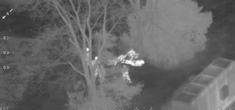Канадская полиция на вертолете ловила детей, укравших конфеты. Видео