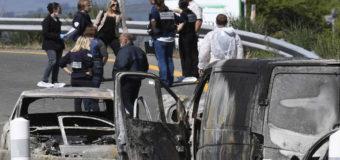 Во Франции грабители напали на фургон с золотом. Фото