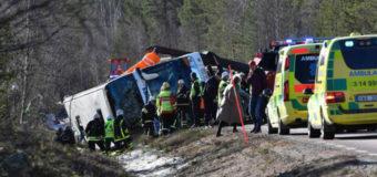 В Швеции разбился автобус со школьниками