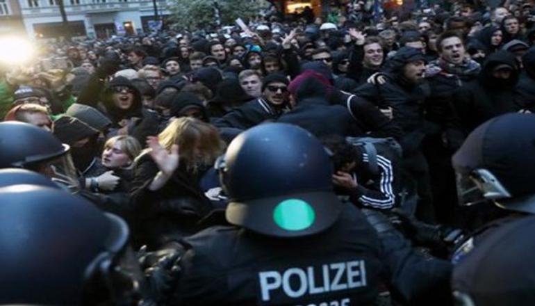 В Германии 1 мая произошли столкновения демонстрантов с полицией
