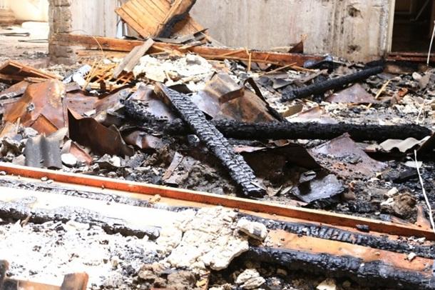 В Одессе сгорел будущий штаб Военно-морских сил Украины. Фото