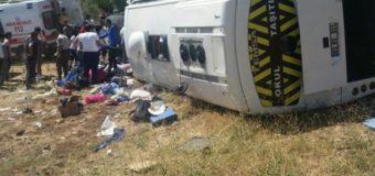 В Турции в аварию попал туристический автобус