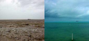 Жители в шоке: на Багамских островах ураган «Ирма» забрал с собой океан. Видео
