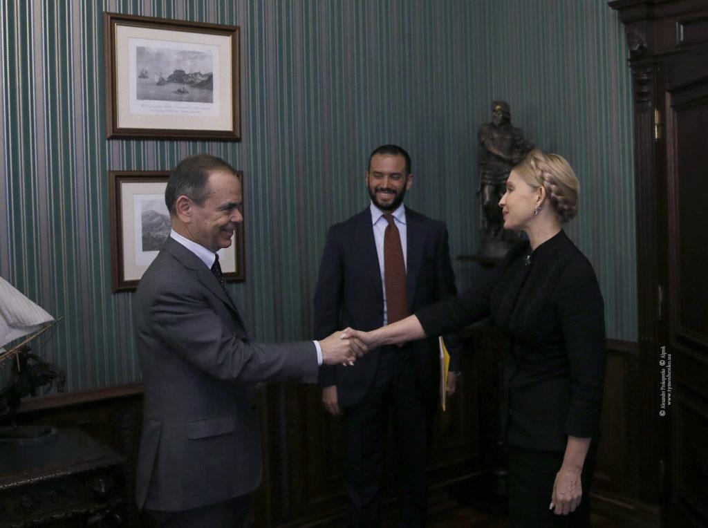Юлия Тимошенко встретилась с послом Италии