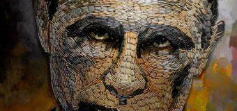 Лицо войны: художники создали портрет Путина из гильз. Фото