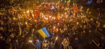 В Украине прошло 57 маршей ко дню рождения Степана Бандеры. Фото