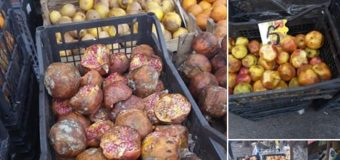Отходы со свалки: на одном из рынков Николаева продают гнилые фрукты. Фото