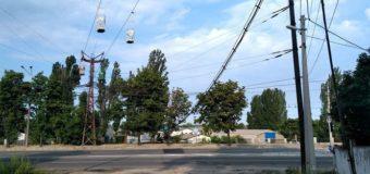 В Днепре металлисты добрались до подвесной канатной дороги. Фотофакт