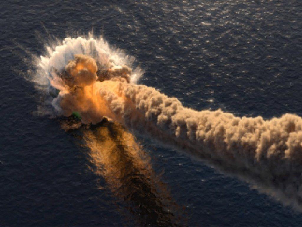 У берегов США в океан рухнул горящий осколок метеорита. Видео