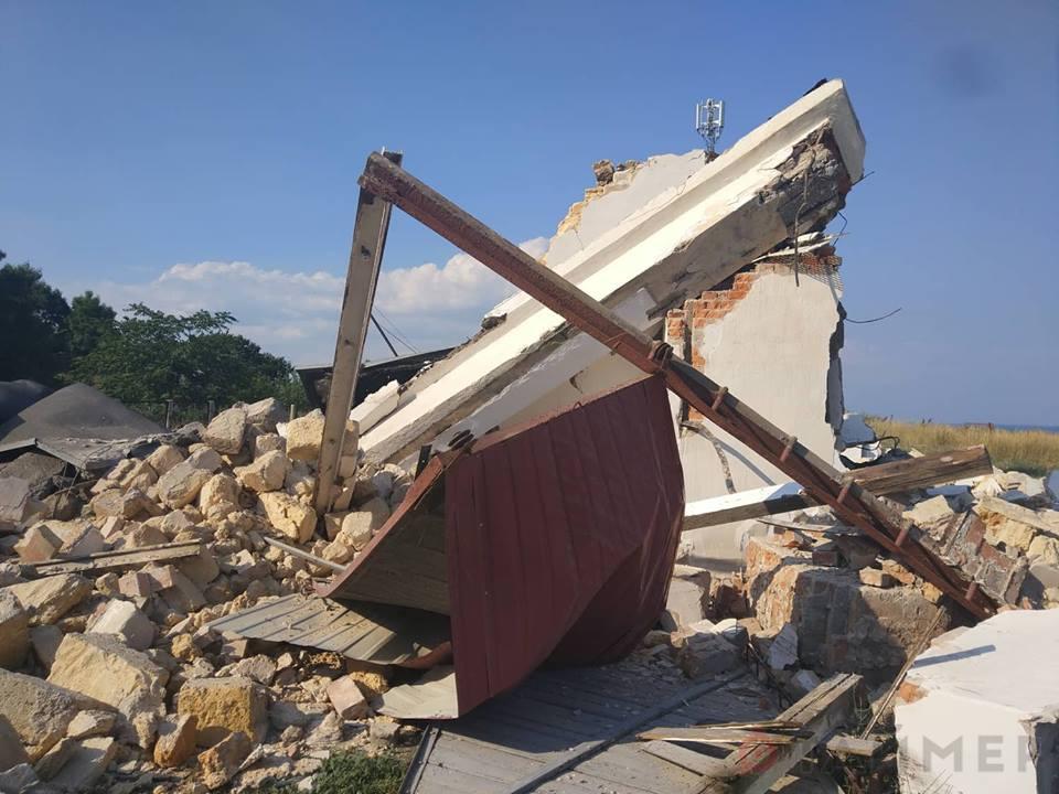Взрыв разрушил постройку Гидрометцентра в Одессе