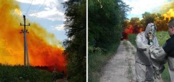 Под Днепром азотная кислота вытекла из цистерны