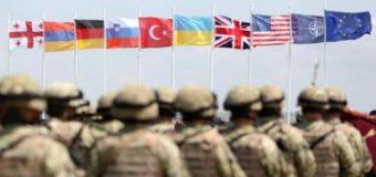 Украинские военнослужащие принимают участие в учениях НАТО в Грузии