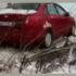 В Киеве машина врезалась в школу. Видео