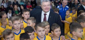 Петр Порошенко открыл под Днепром новый спортивный комплекс. Фото