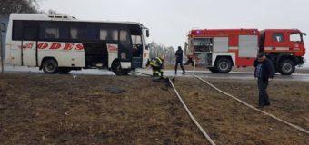 В Винницкой области загорелся пассажирский автобус