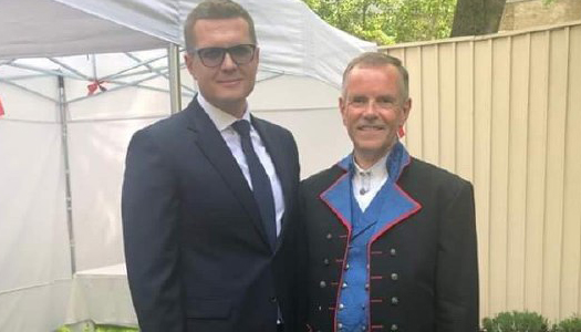 Голова партії «Слуга народу» зустрівся з представниками посольства Королівства Норвегія в Україні