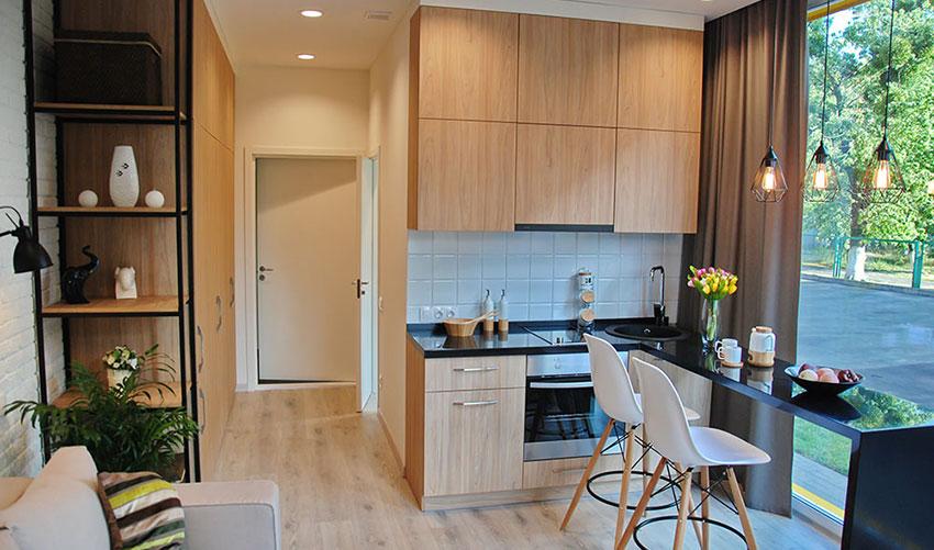 Кухонная мебель для смарт квартиры