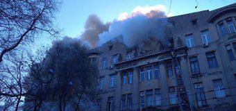 Один человек погиб при пожаре в одесском колледже