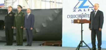 Путин в Крыму объявил о постройке кораблей-вертолетоносцев