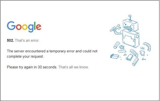 Сервисы Google не работают или работают со сбоями по всему миру