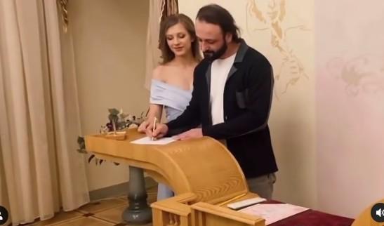 Илья Авербух и Лиза Арзамасова расписались. Видео